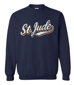 St. Jude Retro Varsity Script Sweatshirt