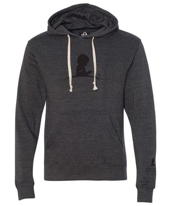 Lightweight Tonal Logo Dark Grey Hoodie