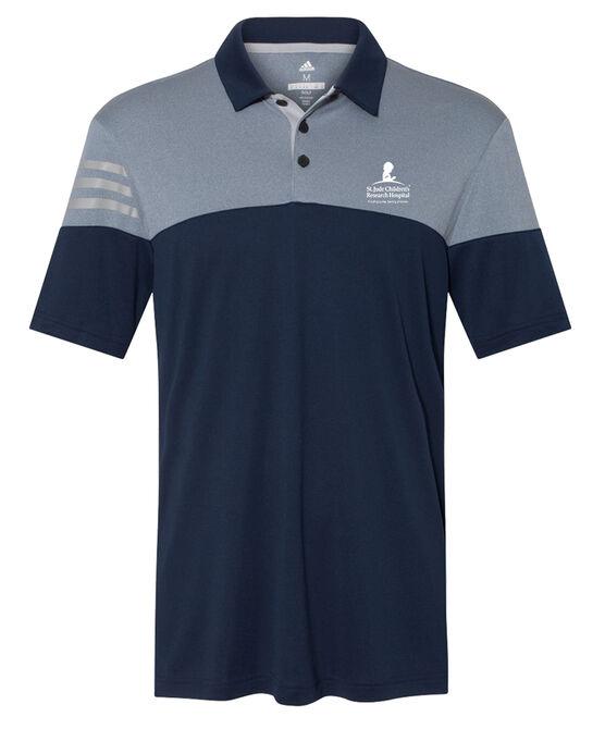 Men's Adidas® Navy Colorblock Polo