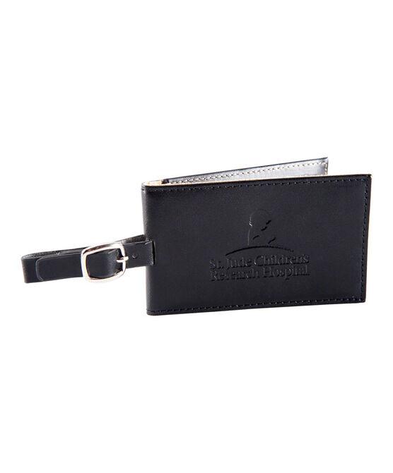 Leather Luggage Tag- Black