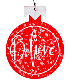 Believe Wooden Flat Ornament