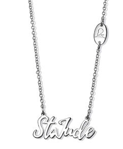 St. Jude Script Silver Necklace