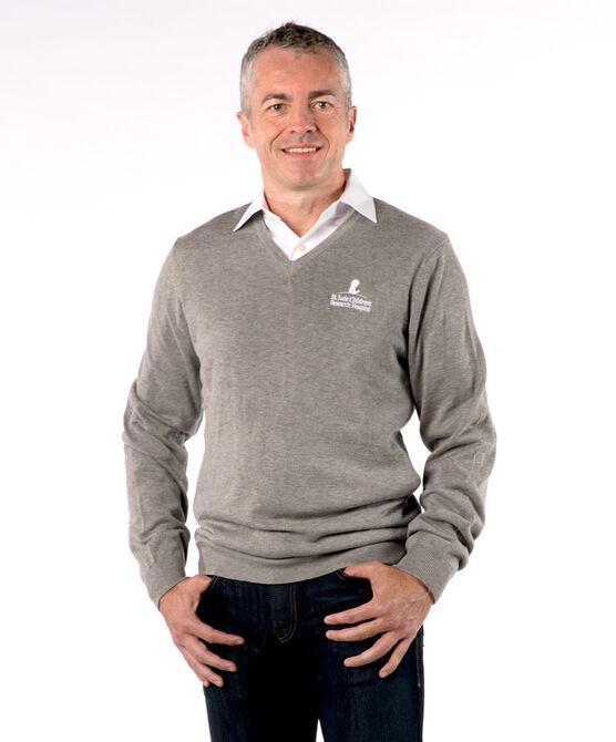 Men's V-Neck Sweater - Grey