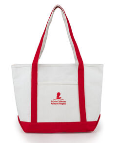 Canvas St. Jude Red Tote