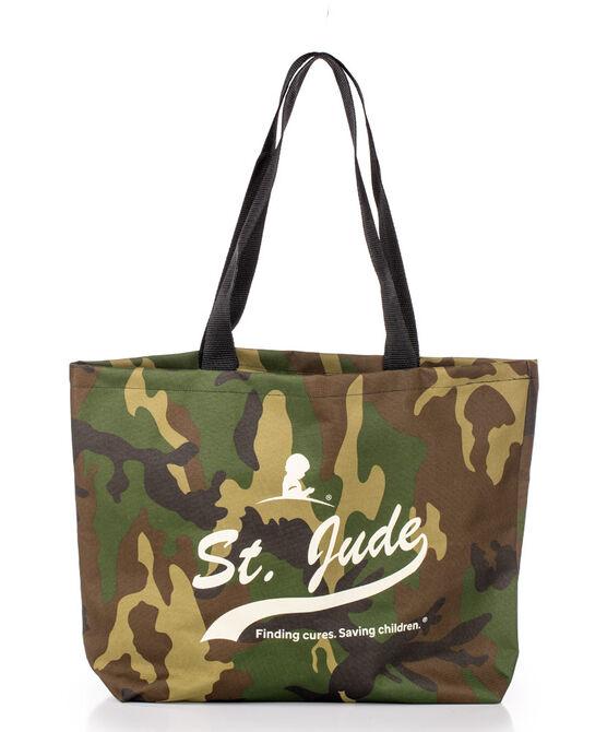 St. Jude Script Camo Tote Bag