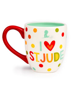 I Love St. Jude Polka Dot Ceramic Mug