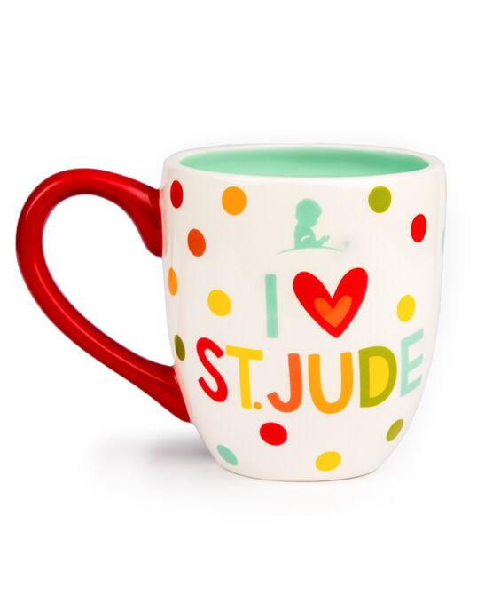 I Love St. Jude Polka Dot Ceramic Mug