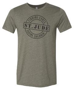 Circle Stamp Army Green T-Shirt