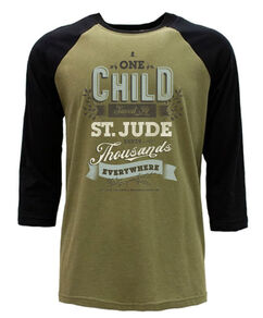 One Child Saved Green Raglan T-Shirt