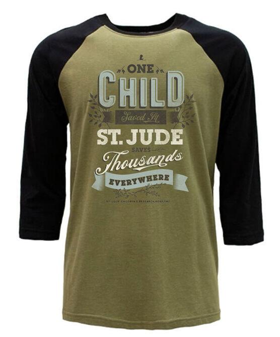 One Child Saved Green Raglan T-Shirt