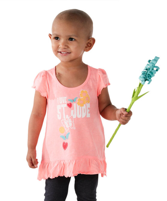 Toddler Love Butterfly Ruffle Hemmed Shirt
