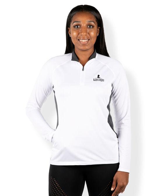 Womens Adidas Quarter Zip Light-Weight Pullover