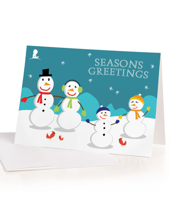 Snowman Holiday Greeting Cards - Set of 10