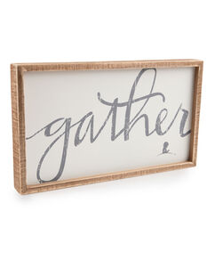 Gather Inset Box Sign