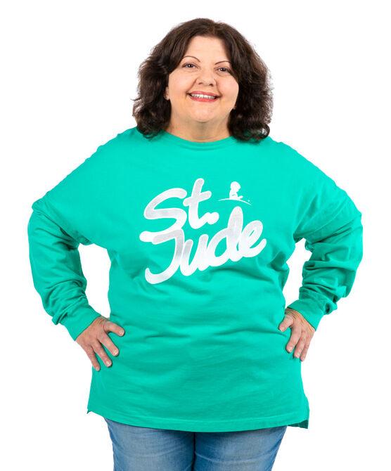 Women's St. Jude Gradient Shimmer Font Long-Sleeve