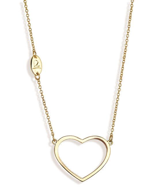 Open Heart Logo Necklace - Gold