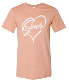 St. Jude Shimmer Heart Peach T-Shirt