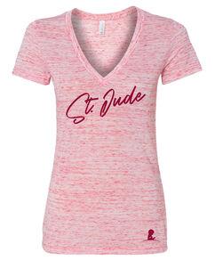 Women's  Deep V-Neck Slim-fit Jersey T-Shirt