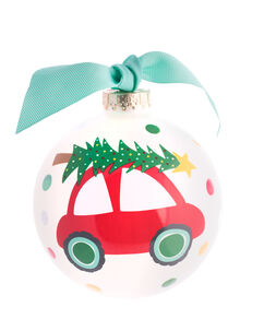 "Vintage Christmas Car 4"" Ornament"