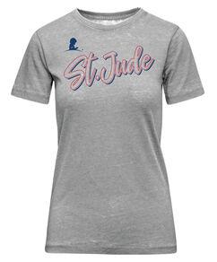 Womens Grey Diagonal Script T-Shirt