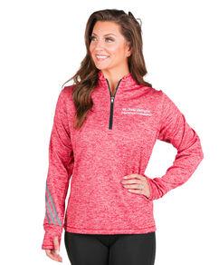 Women's St. Jude Memphis Marathon Adidas Red Terry Quarter Zip Pullover
