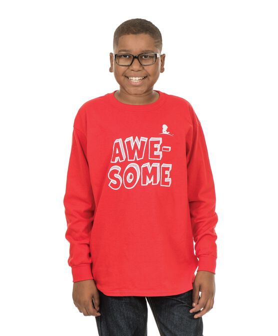 Youth Just Awesome Long Sleeve T-Shirt