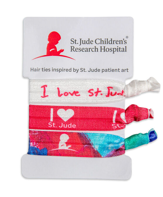 St. Jude 3-Pack Hair Ties