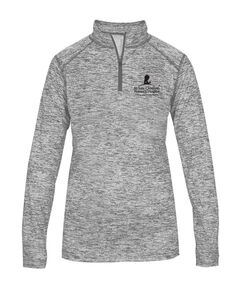 Ladies' Heathered Quarter Zip Pullover