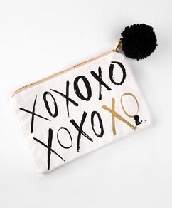 XOXO Pom Pom Jewelry Bag