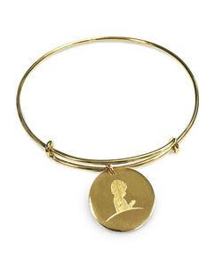 Gold Bangle Charm Bracelet