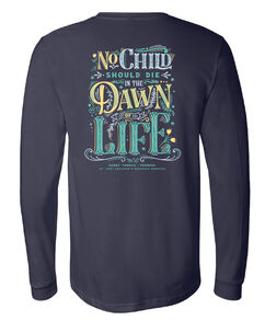 Dawn of Life Navy Long Sleeve T-Shirt