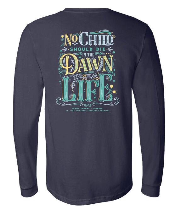 Dawn of Life Navy Long Sleeve T-Shirt