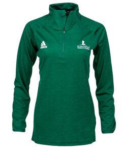 Women's adidas Quarter Zip Green Pullover
