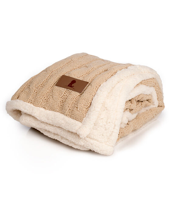Cable Knit Chenille and Sherpa Throw Blanket