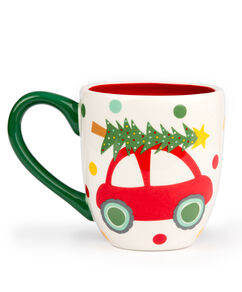Vintage Christmas Car Ceramic Mug