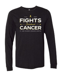 Fighting Childhood Cancer Black Long-Sleeve T-Shirt
