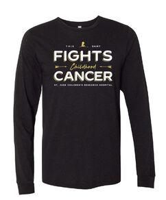 Fighting Childhood Cancer Black Long-Sleeve T-Shirt