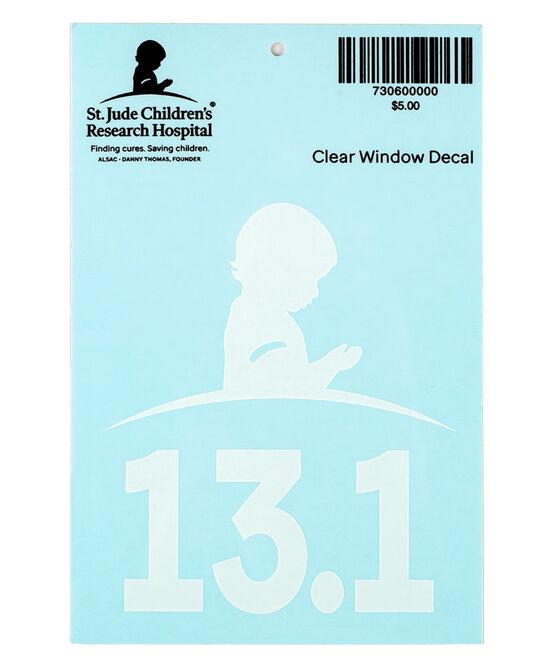 13.1 Half Marathon Clear Car Decal