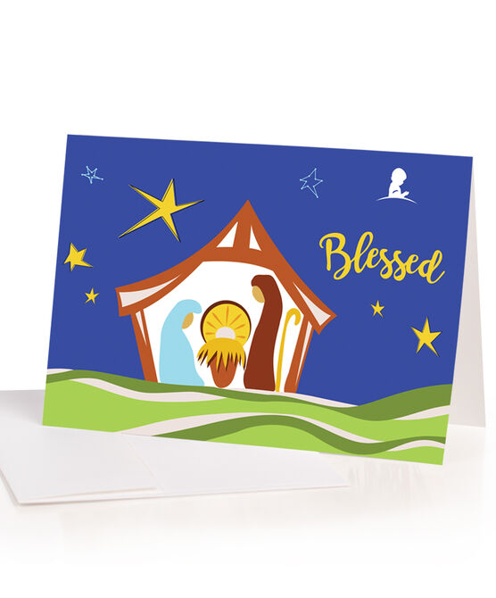 Nativity Patient Art Inspired Greeting Cards