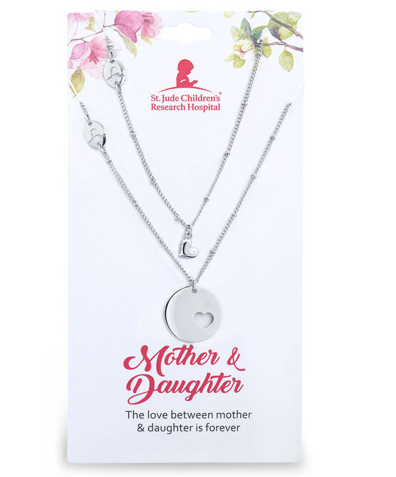 Mother and Daughter Silver Necklace Set