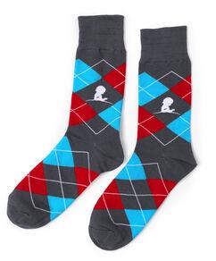 Multi-Colored Argyle Sock