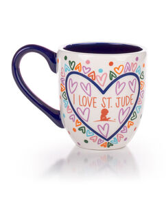 I Love St. Jude Patient Art Ceramic Mug