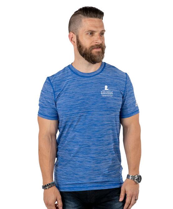 Adidas Unisex Performance Heather Blue T Shirt