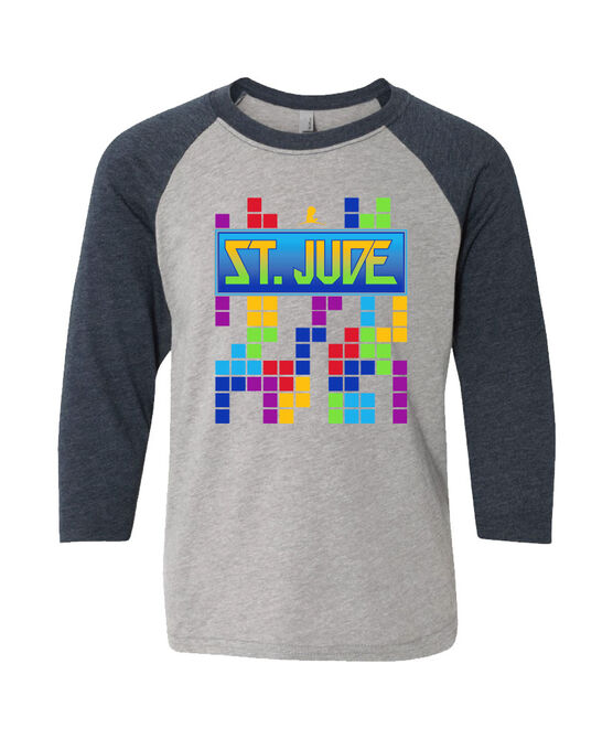 Youth Retro Game 3/4 Sleeve T-Shirt