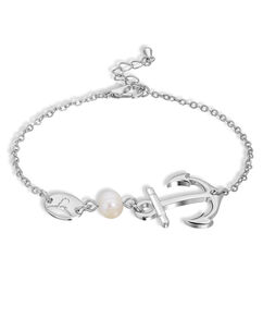 Anchor and Pearl Bracelet