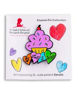 Patient Art Cupcake Enamel Pin - Coraliz