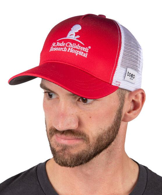 5 Panel St. Jude Trucker Hat Red