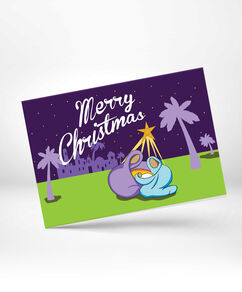 Manger and North Star Greeting Card 10 Pack