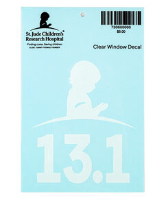 13.1 Half Marathon Clear Car Decal