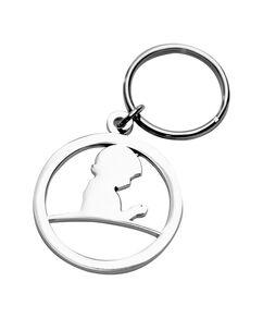 St. Jude Silver Metal Keychain